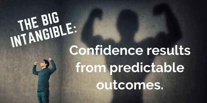 Confidence results from predictable outcomes.